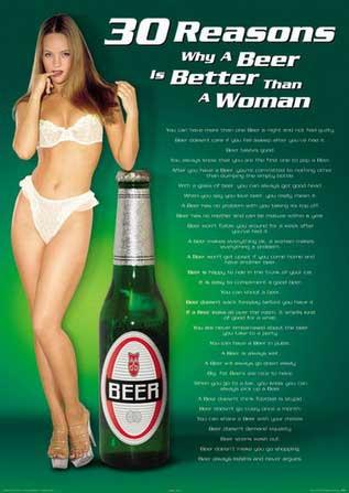 Почему пиво лучше чем женщины